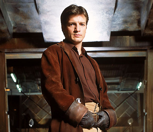 The moral outlaw - Nathan Fillion as Captain Mal Reynolds