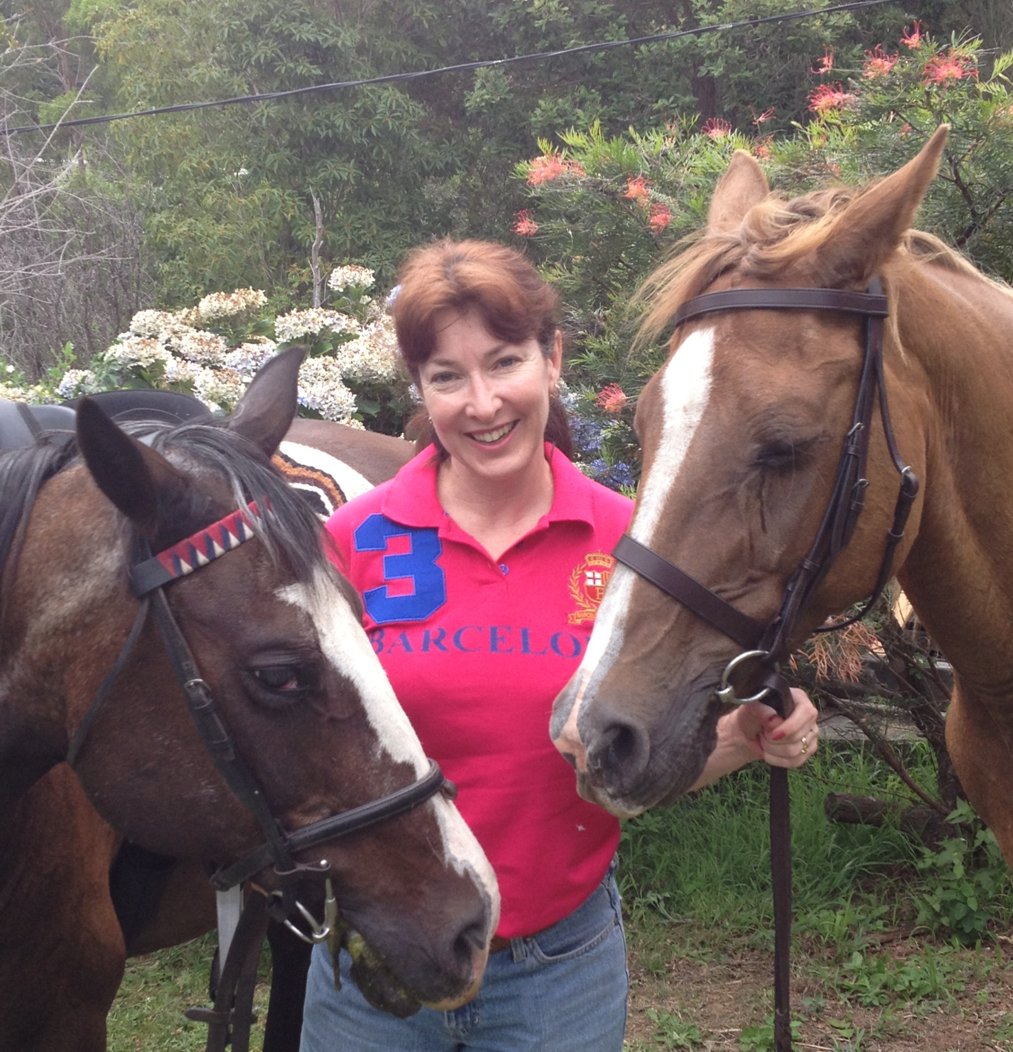 With our horses - Alyssa
