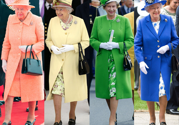 We matched the Queen's outfits to Mills & Boon novels